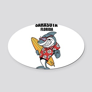 Sarasota, Florida Oval Car Magnet