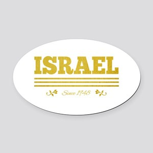 vintage golden Israel since 1948 Oval Car Magnet