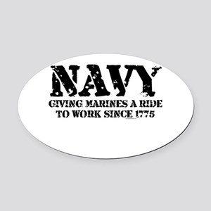 NAVY Oval Car Magnet