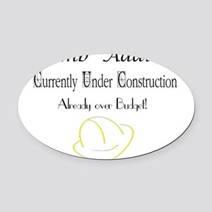UnderConstruction Oval Car Magnet