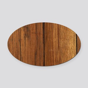 western country barn wood Oval Car Magnet