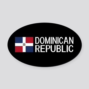 Dominican Republic: Dominican Flag Oval Car Magnet