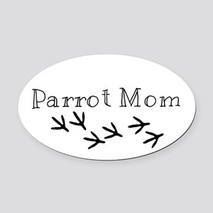 Parrot Mom Oval Car Magnet