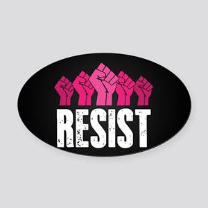 Resist Oval Car Magnet