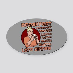 Archer Pam Hungry Oval Car Magnet
