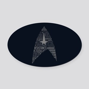 Star Trek Quotes Insignia Oval Car Magnet