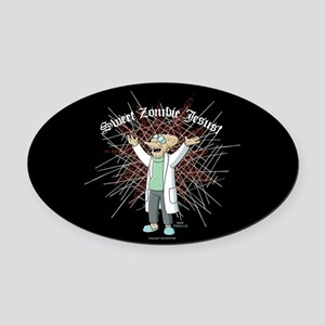 Sweet Zombie Jesus Oval Car Magnet