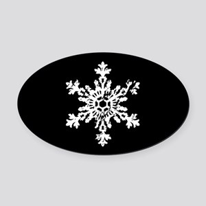 Big Snowflake Oval Car Magnet