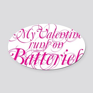 valentine batt copy Oval Car Magnet