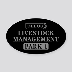 Westworld Livestock Management Oval Car Magnet