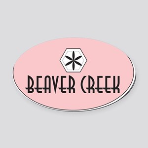 Beaver Creek Retro Patch Oval Car Magnet
