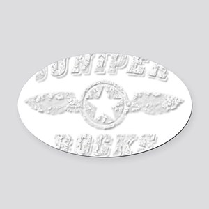 JUNIPER ROCKS Oval Car Magnet
