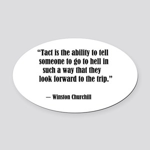 tact:Winston Churchhill Oval Car Magnet