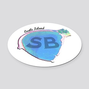 Castle Island SB Oval Car Magnet