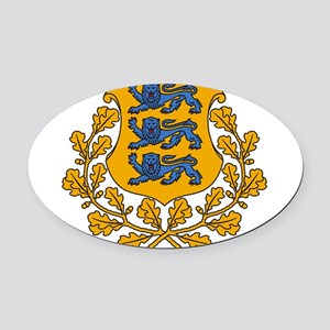 Estonia Coat Of Arms Oval Car Magnet