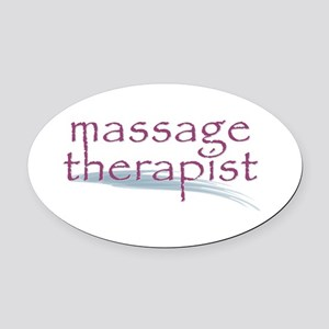 Massage Therapist Oval Car Magnet