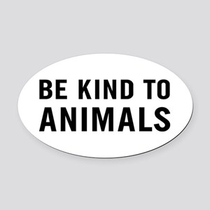 Be Kind Animals Oval Car Magnet
