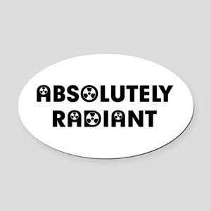 Absolutely Oval Car Magnet