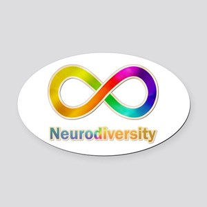 Neurodiversity Oval Car Magnet