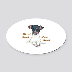 MIXED BREED Oval Car Magnet