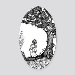 Junipertree Oval Car Magnet