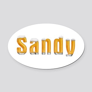 Sandy Beer Oval Car Magnet