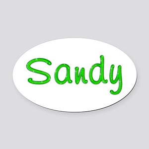 Sandy Glitter Gel Oval Car Magnet