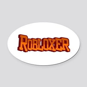 Roblox3 Oval Car Magnet