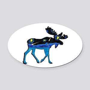 MOOSE IT Oval Car Magnet
