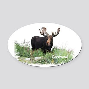 Vermont Moose Oval Car Magnet