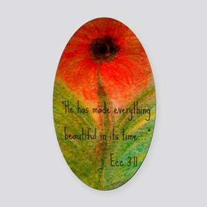Lisas Art and Photography Oval Car Magnet