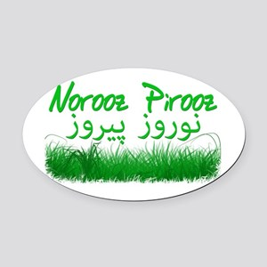 Persian New Year Oval Car Magnet