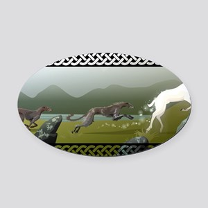 Deerhound Oval Car Magnet