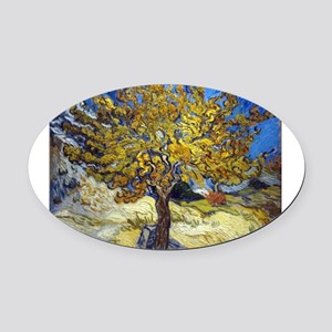 Van Gogh Mulberry Tree Oval Car Magnet