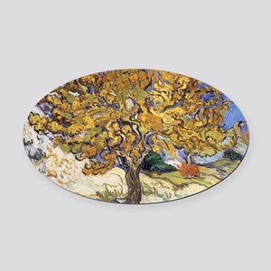 Mulberry Tree by Vincent Van Gogh Oval Car Magnet