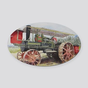 The Minneapolis Steam Tractor Oval Car Magnet
