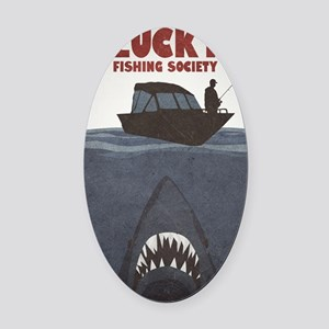 Jaws Oval Car Magnet
