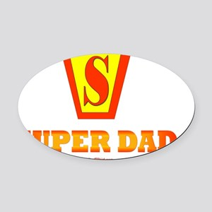 SuperDad 10 Oval Car Magnet
