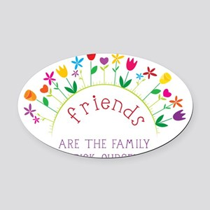 Friends Oval Car Magnet