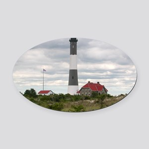 ROBERT_MOSES_STATE_PARK_LIGHTHOUSE Oval Car Magnet