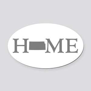 Kansas Home Oval Car Magnet