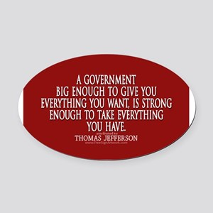 Big Government Quote Oval Car Magnet