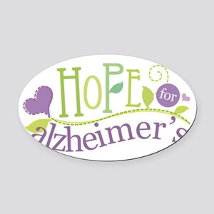 Hope For Alzheimer's Disease Oval Car Magnet