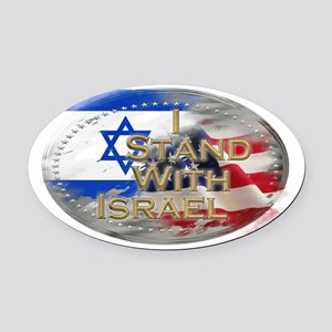 I stand with Israel Oval Car Magnet