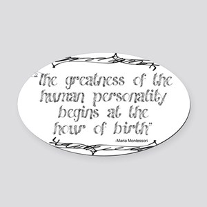 Greatness From Birth Oval Car Magnet