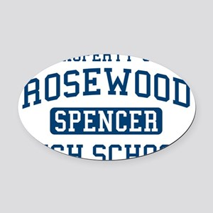 Rosewood High Spencer Pretty Littl Oval Car Magnet