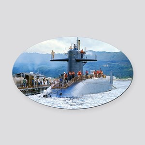 gc uss henry clay greeting card Oval Car Magnet