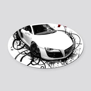 R8 Oval Car Magnet