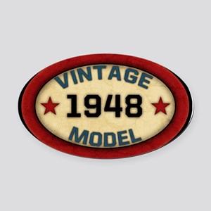 vintage-model-1948 Oval Car Magnet