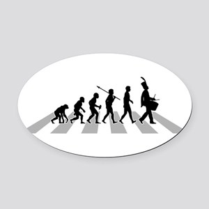 Marching-Band---Snare-Drum-B.png Oval Car Magnet